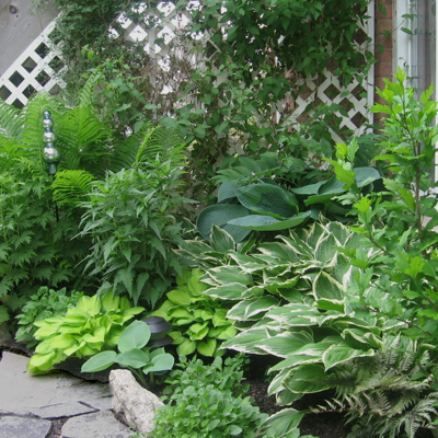 Garden beds plantings peace love and landscaping for Hard surface garden designs